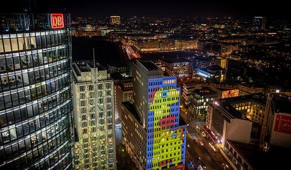 Berlin, Night Photograph, Long Exposure, Night