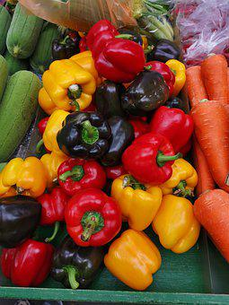 Peppers, Bell Peppers, Vegetable, Capsicum, Yellow, Red