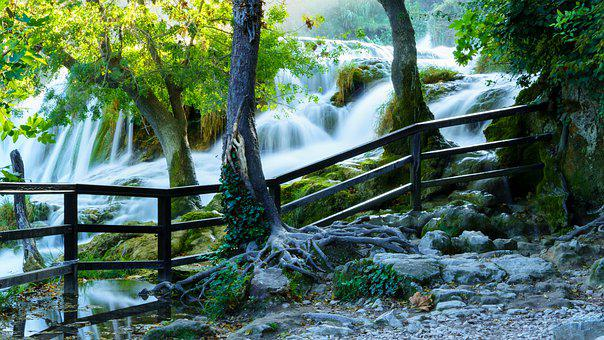 Waterfalls, Waterfall, Trail, Nature, Creek, River