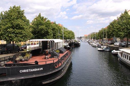 Channel, Christianshavn, Copenhagen, Denmark, Water