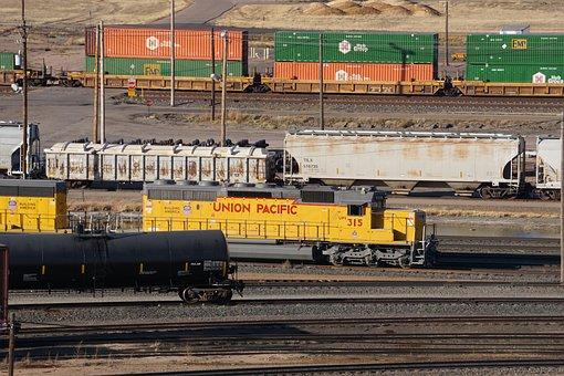 Railroad Classification Yard, Railroad, Train