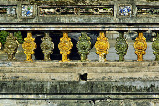 Viet Nam, Booed, Palace, Imperial, Guardrail, Ceramic