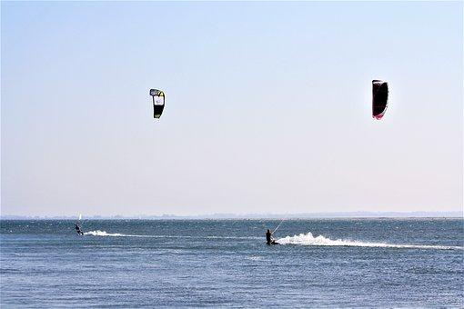Kite Surfing, Fehmarn, Baltic Sea, Water Sports
