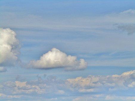 Cloud, Sky, White, Light Blue, Grey, Schäfchenwolke