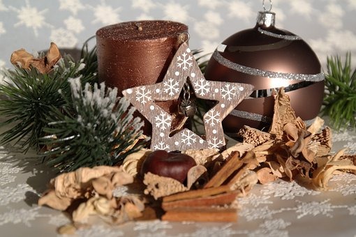 Christmas, Map, Still Life, Candle, Ball