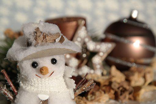 Christmas, Snowman, Map, Advent, Still Life, Candle