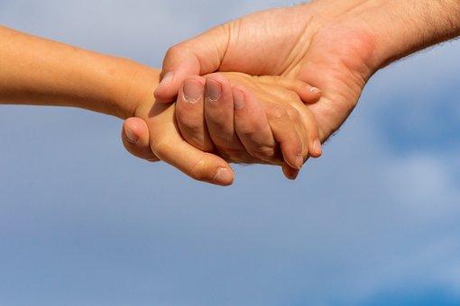 Assist, Assistance, Blue, Care, Child, Closeup, Clouds