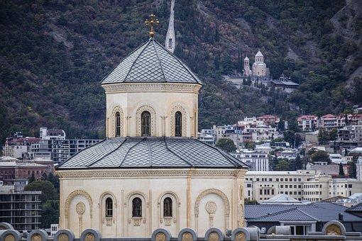 Church, Tbilisi, Architecture, Georgia, Cathedral, City