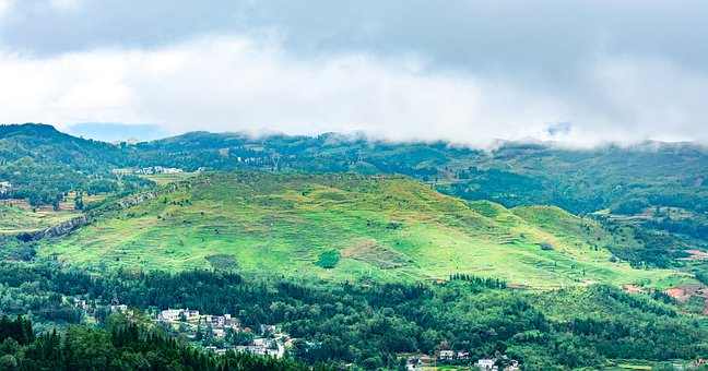 Natural, Country, Hills, Mountain, Hillside, Cloudy Day
