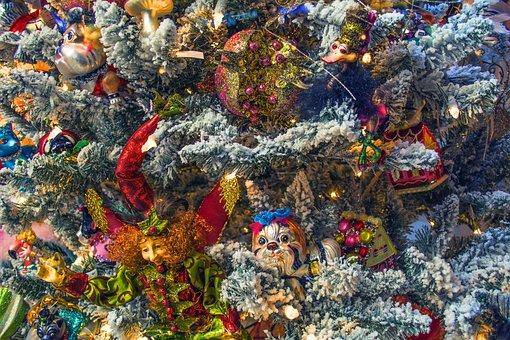 Christmas, Tree, Fir, Toys, Snow, Fun, Decoration