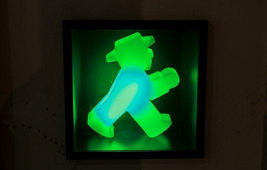 Night, Evening, Night Photograph, Little Green Man