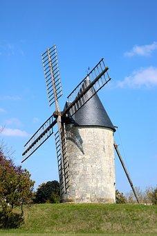 Windmill, Mill, Old, Flour, Architecture, Historic
