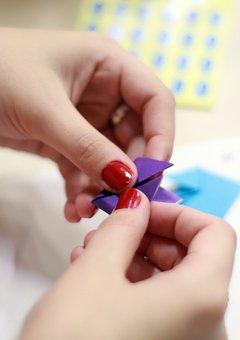 Hands, Origami, School, Paper, Education