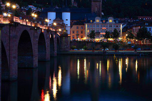 Old Bridge, River, Water, Romantic, Middle Ages