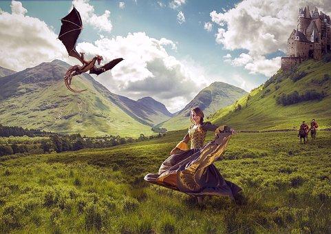 Princess, Dragon, Kidnapping, Story, Tales, History