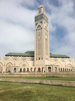 Morocco, Church, Mosque, Holy, Temple, Beach, Sky