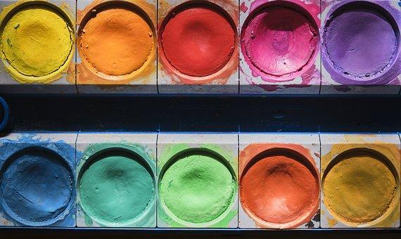 Color, Malkasten, Paint Boxes, Paint, Water Stains, Art