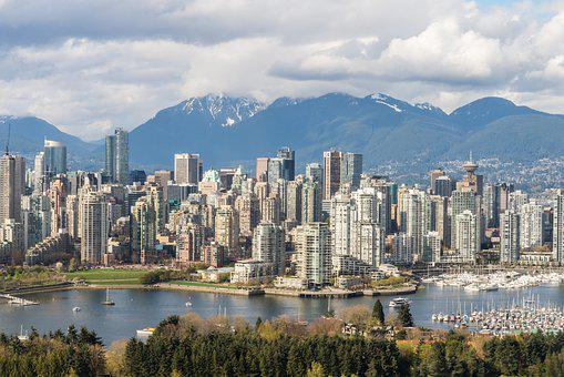 Vancouver, Skyline, British Columbia, Canada, Mountains