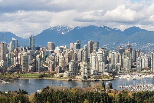 Vancouver, Skyline, British Columbia, Canada, Mountains