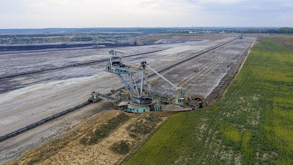 Brown Coal, Open Pit Mining, Mibrag, Excavators, Carbon