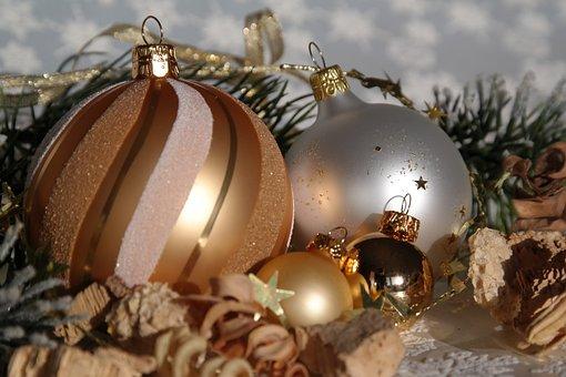Christmas, Gold, Christmas Balls, Still Life, Map