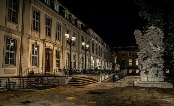 Night, Evening, Building, House, Architecture, Facade