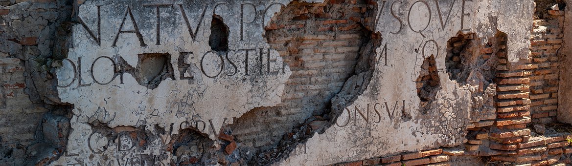 Ostia, The Ruins Of The, Ancient Times, Inscriptions
