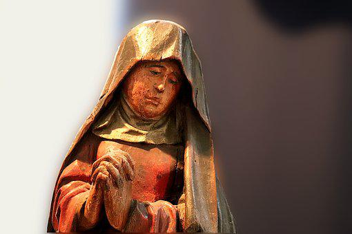 Wooden Sculpture, Polychrome Wood, Former, Middle Ages