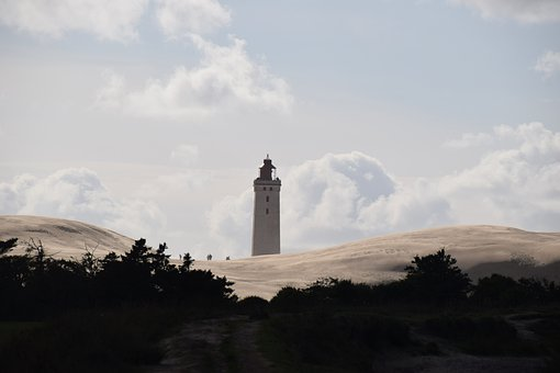 Lighthouse, Dune, Nature, Sand, Rubjerg Knud Fyr