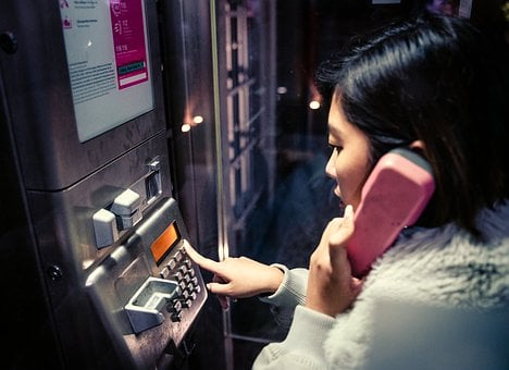 Phone, Phone Booth, Call, Night, Contact, Technology