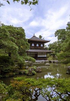 Japan, Kyoto, Temple, Buddha, Landmark, Ginkakuji