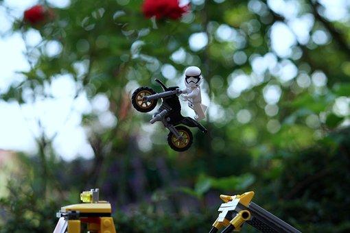 Starwars, Clone, Motorcycle, Lego, Legoland, Toys