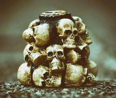 Skull And Crossbones, Creepy, Halloween, Skull