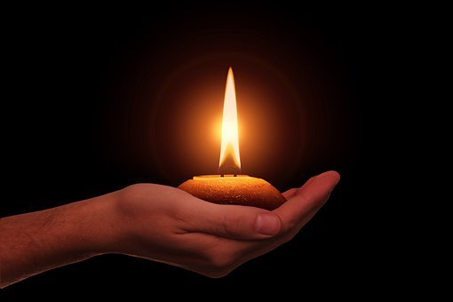 Hand, Candle, Diwali, Festival Of Lights, Hinduism