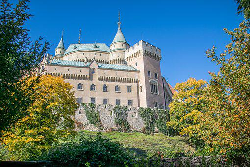 Castle, Autumn, Architecture, Historically, Building