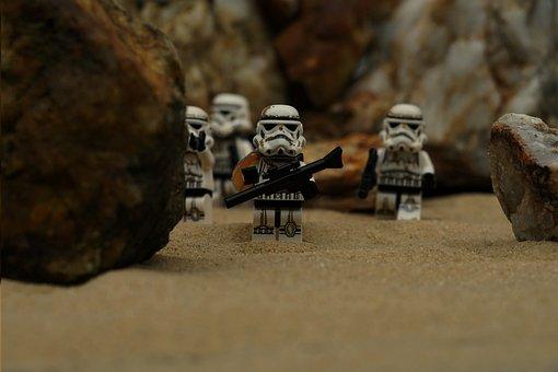 Storm Troops, Starwars, Lego, Building Blocks, Rifle