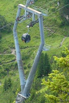 Cableway, Schlick 2000, Krinnenkopf, Elevator, Poles