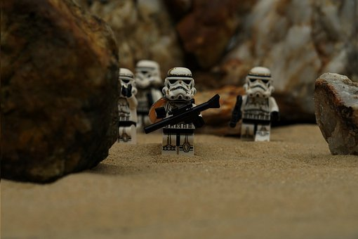 Storm Troops, Starwars, Lego, Building Blocks, Rifle