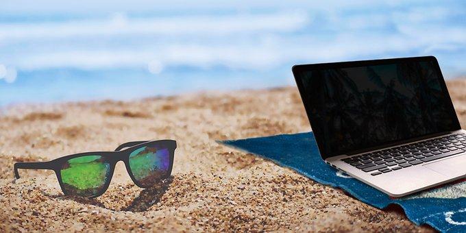 Summer, Beach, Home, Assembly, Laptop, Lenses, Bloggers