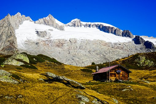 Switzerland, Valais, Bettmeralp, Mountains, Hiking