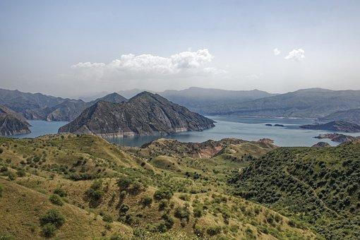 Tajikistan, Nurek Reservoir, Reservoir, Water