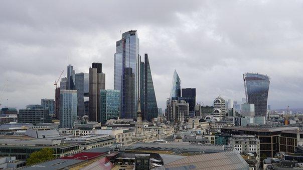 Skyline, London, Financial District, City, View