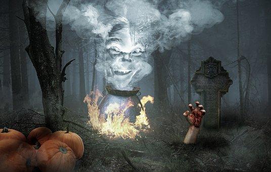 Halloween, Horror, Weird, Creepy, Fantasy, Dark, Night