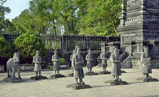 Viet Nam, Booed, Tomb, Imperial, Servants, Statues