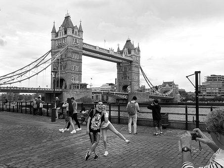 Bridge, Tower, London, England, Victorian, Old