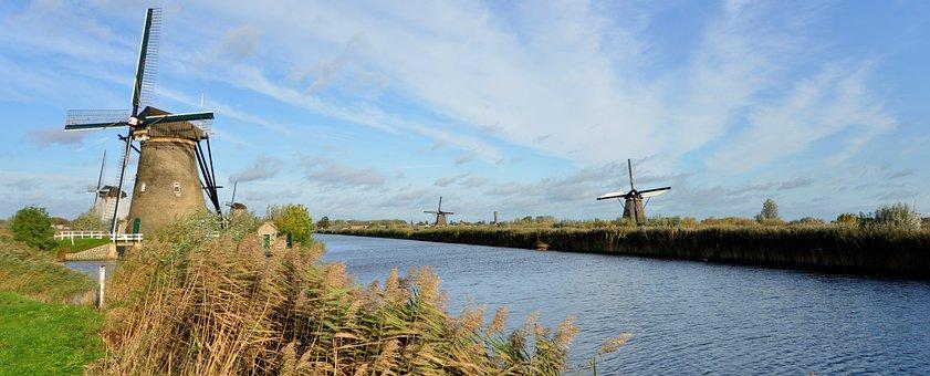 World Heritage, Kinderdijk, Fireplace, Landscape