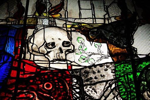 Lübeck, St Mary's Church, Glass Window, Dance Of Death