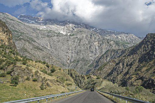 Tajikistan, Pandsch Valley, Valley, Mountains
