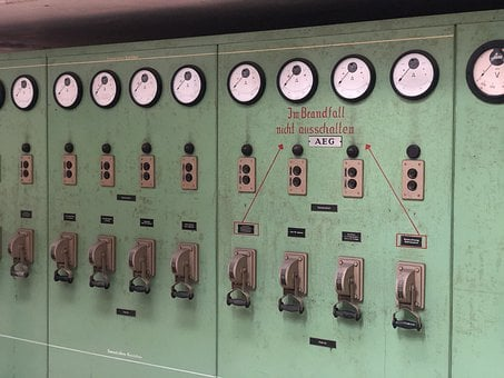 Old Factory, Electric, Control Cabinet, Current