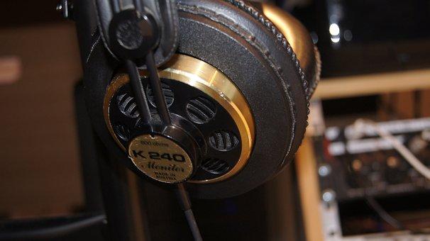 Akg, Headphones, Music, Recording, Audio